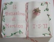 Torta battesimo libro