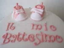 Torta battesimo scarpette