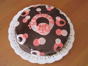 Torta compleanno al cioccolato