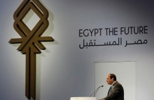 Egyptian President Abdel Fattah al-Sisi gives his speech during the closing session of Egypt Economic Development Conference (EEDC) in Sharm el-Sheikh, in the South Sinai