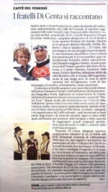 20171025 - Articolo del Messaggero Veneto sui fratelli Di Centa