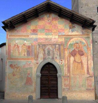Risultati immagini per affresco san cristoforo facciata chiesa campanile