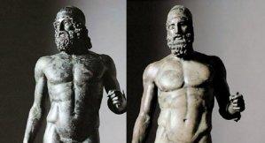 I Bronzi di Riace, i due guerrieri sepolti dal mare