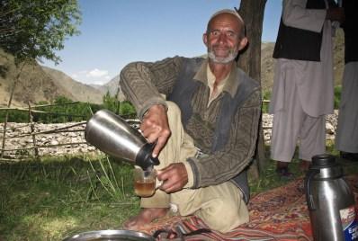 Typical tea offer from men met on the way to a landslide affected village