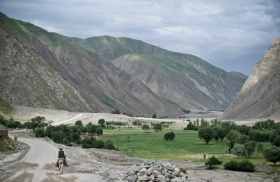 The main road in the Kotcha River valley, near Fayzabad