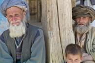 Men outside a mosque