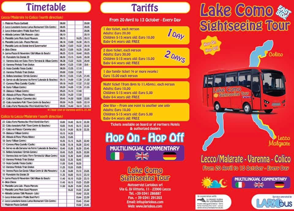 Parte Il Servizio Di Bus Turistici Tra Malgrate E Colico