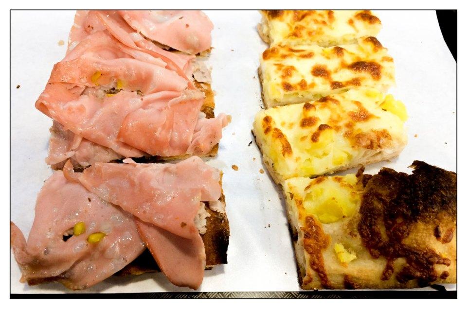 Tajo Pizza mortadella e crema di fagioli - Pizza patate e mozzarella