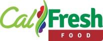 CalFresh food logo. Shades of green and red.