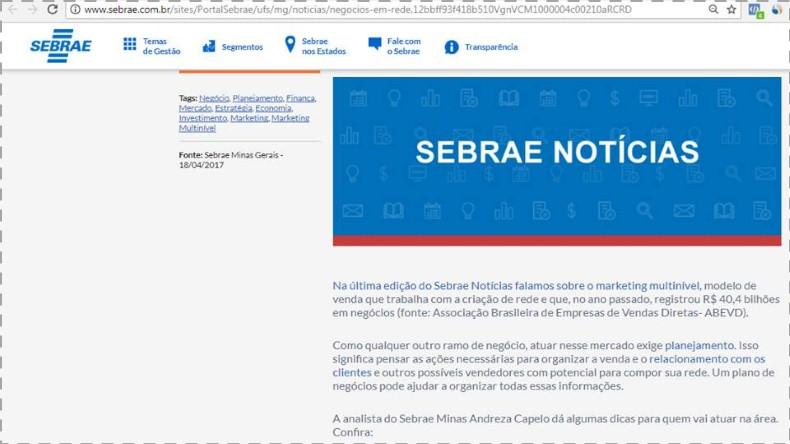 Marketing Multinível Sebrae MG
