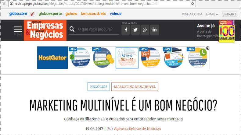 Marketing Multinível Sebrae PEGN