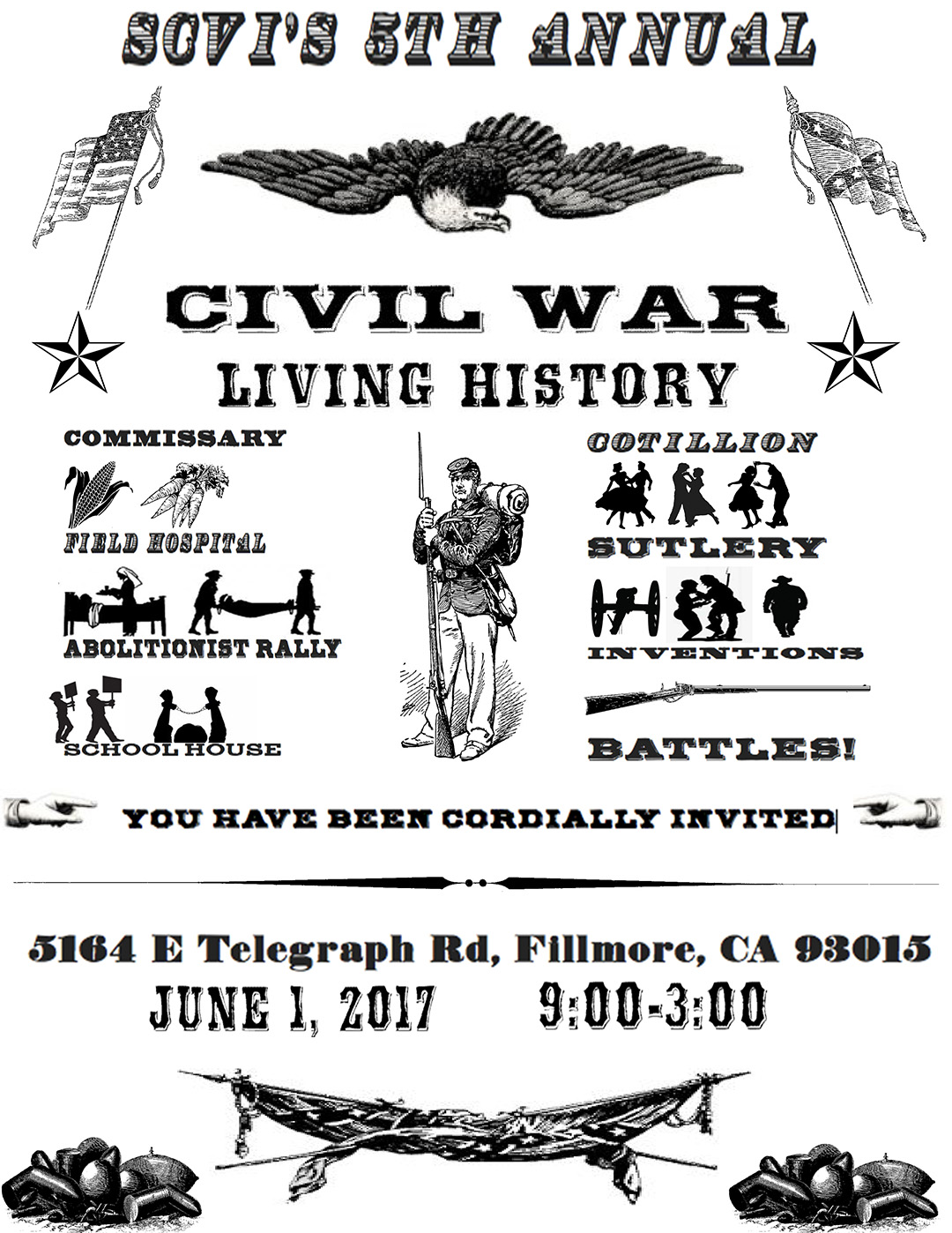 Scvi 8th Grade Presents 5th Annual Civil War Living History Day