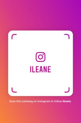 Pink Instagram NameTag for Ileane