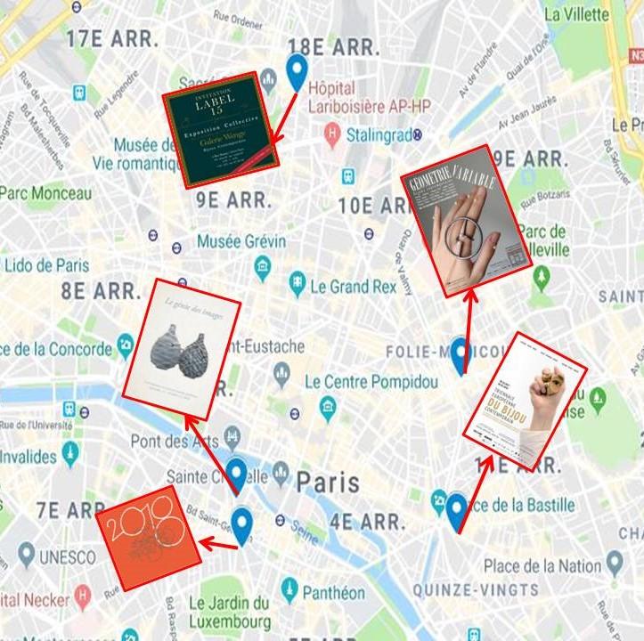 5 Galeries exposent le Bijou Contemporain à Paris