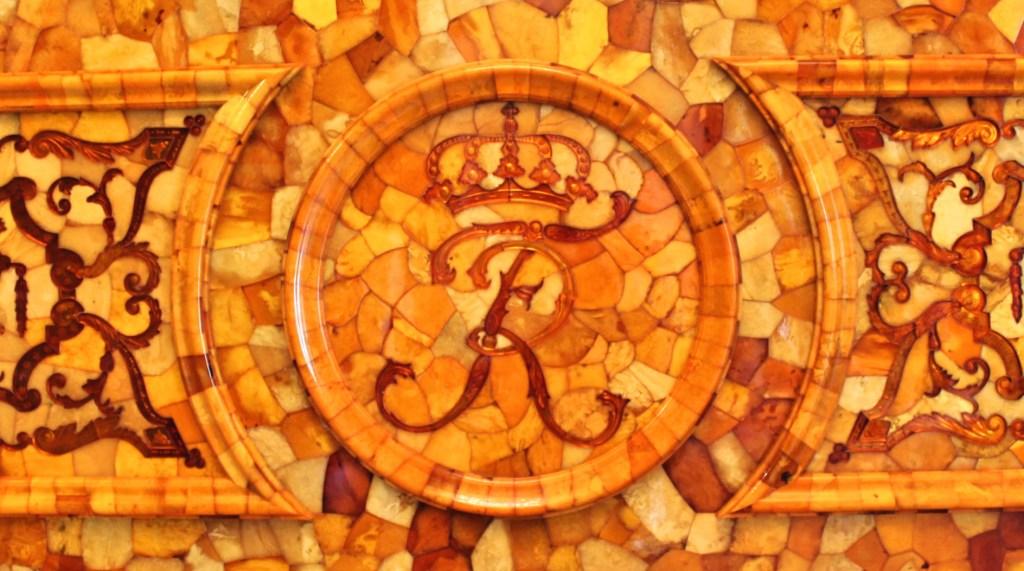 détail de la chambre d'ambre