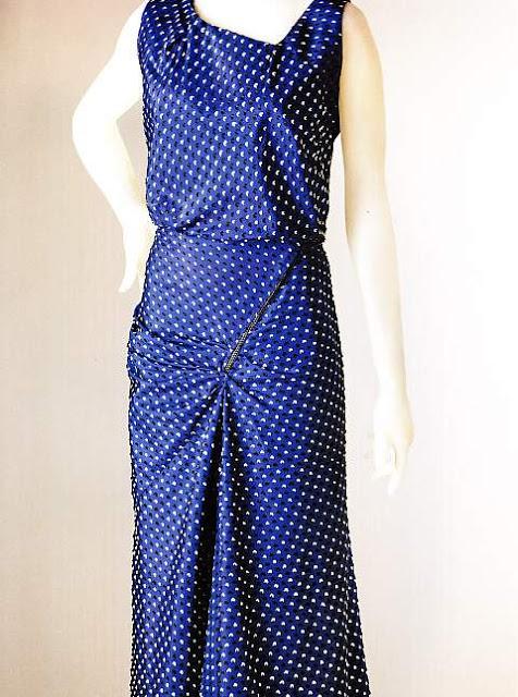 robe de soirée Schiaparelli 1935 avec fermeture éclair décorative