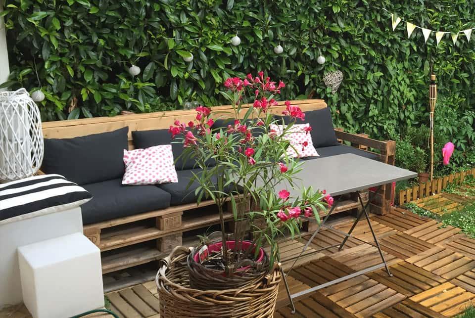 DIY déco : Salon de jardin en palettes rapide & facile - Il etait ...