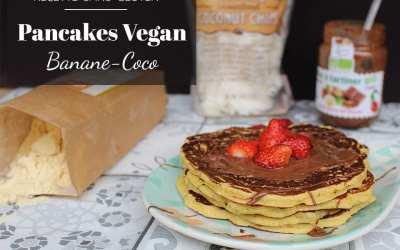 Recette vegan de pancakes banane-coco sans gluten