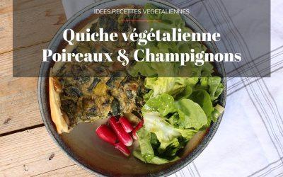 Quiche aux poireaux & champignons vegan