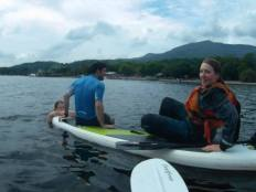 Paddle boarding and kayaking on Coniston with Jon, Mollie and Liam