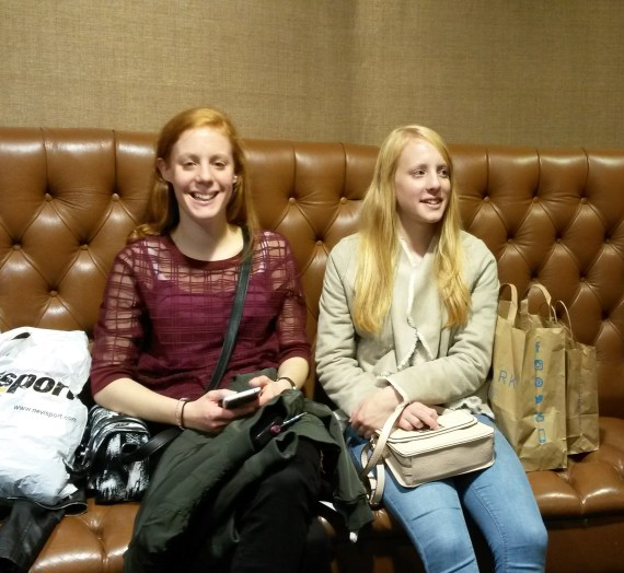My lovely little sisters when we went shopping for their 16th birthdays