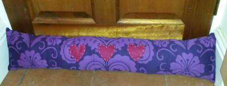 A draught excluder I made for my mum for Christmas