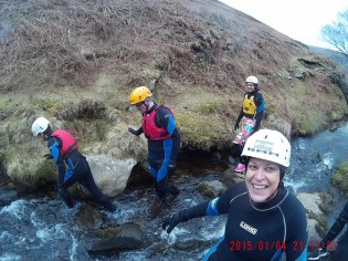 Gorge walking with the family for my mums birthday (and yes, it was her idea)