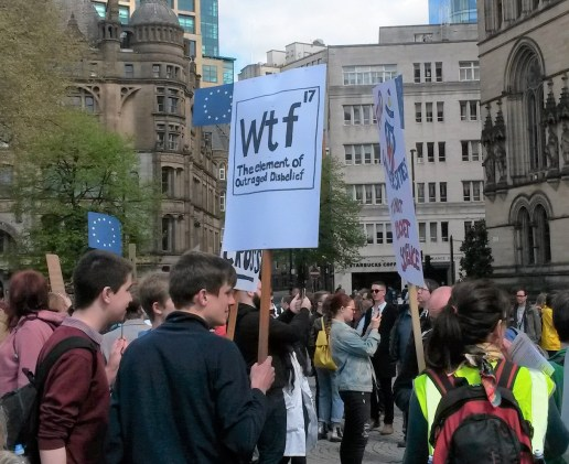 Manchester Science March WTF placard