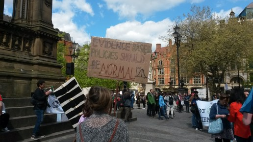 "Manchester science festival ""normal"" placard"