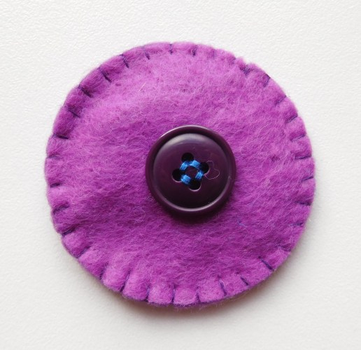 With a button back