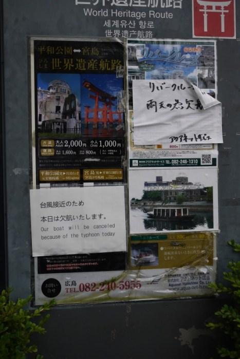 Japon, Hiroshima / Typhon
