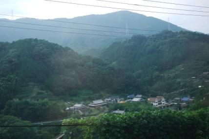 Koyasan : vue depuis le train
