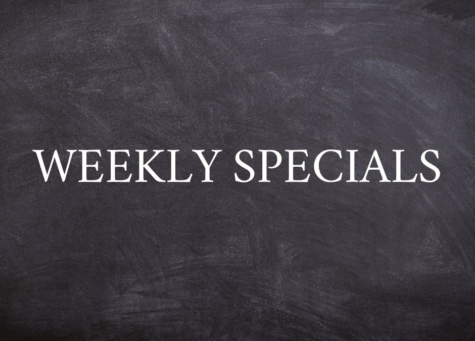 Weekly Specials: September 27