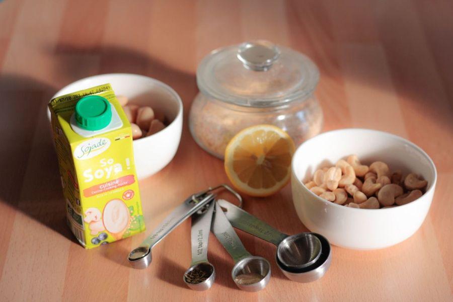ingredienti salsa anacardi