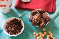 dolci vegani, vegan, ricette vegane, facile, biscotti, cucinare, senza glutine, gluten free, leggeri, facili, farina di cocco, ricoperti, cioccolata, farina di nocciole, stevia, latte di cocco, bacche di cardamomo, vaniglia in polvere, olio di cocco, glassa, cacao amaro, granella di nocciole, sciroppo d'agave,