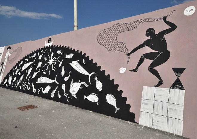 Guerrilla Spam Street Art Civitanova Marche Vedo a Colori
