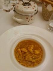 minestra di pasta e crostacei