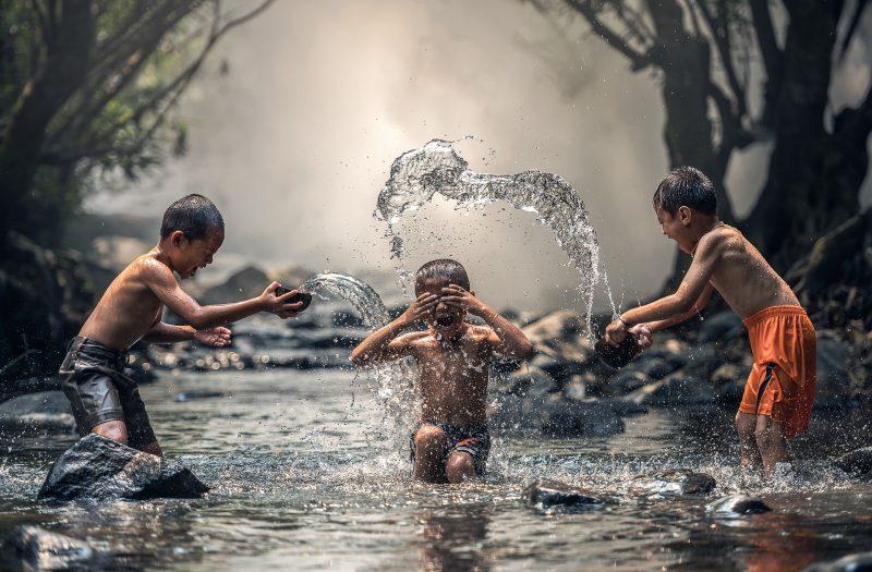 mandi saat musim kemarau