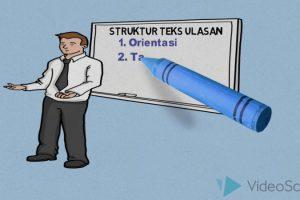 struktur teks ulasan
