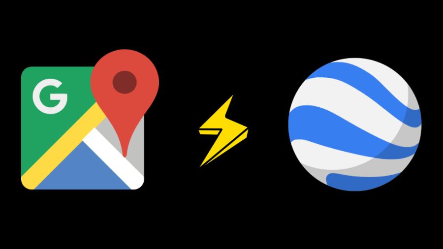 ماهو الفرق بين خرائط جوجل وجوجل إيرث لحن الحياة