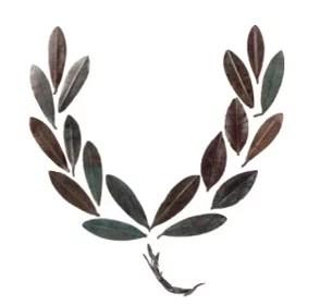 Στεφάνι (κότινος) από χάλκινα φύλλα ελιάς