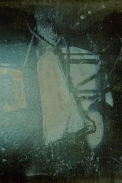 wheelbarrow, 10x15cm daguerreotype