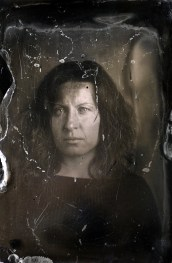 Danijela portrait, Ambrotype, 10x15cm