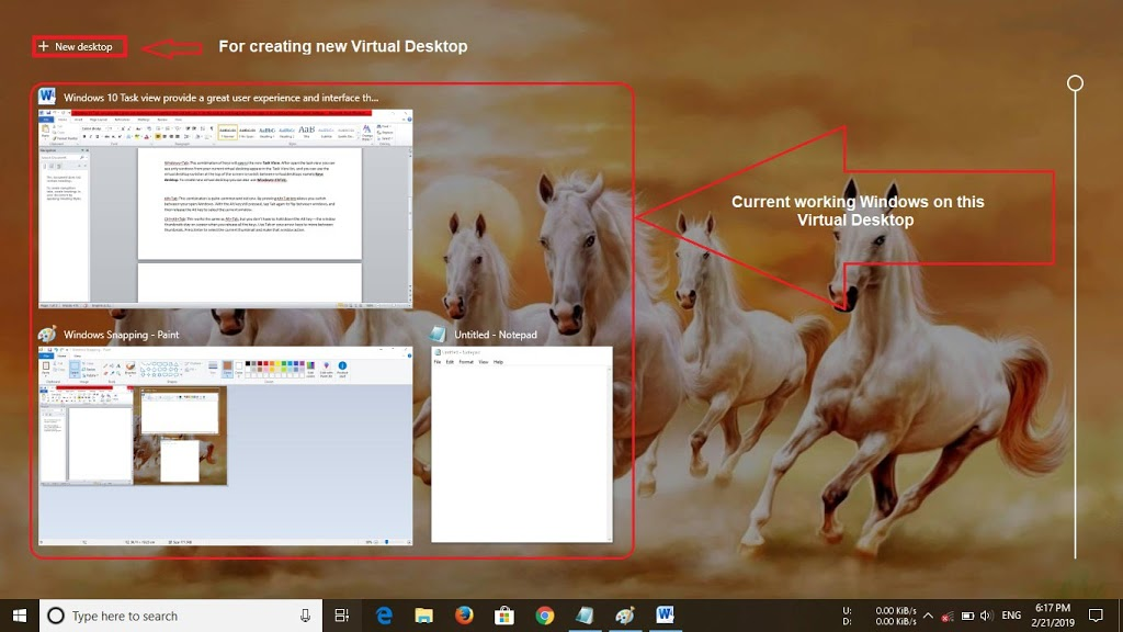 task view list, windows 10 virtual desktop shortcut keys