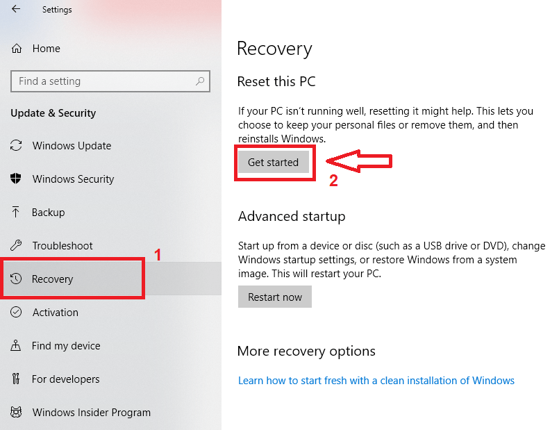 How to Factory Reset Windows 10 without Password
