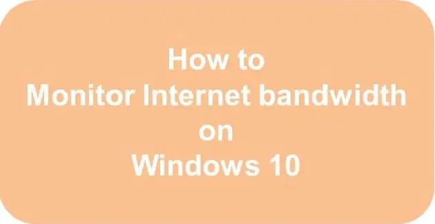 free bandwidth monitor windows network bandwidth monitor