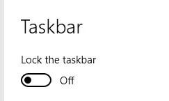 increase size of tasbar, lock the taskbar,taskbar customization software windows 10