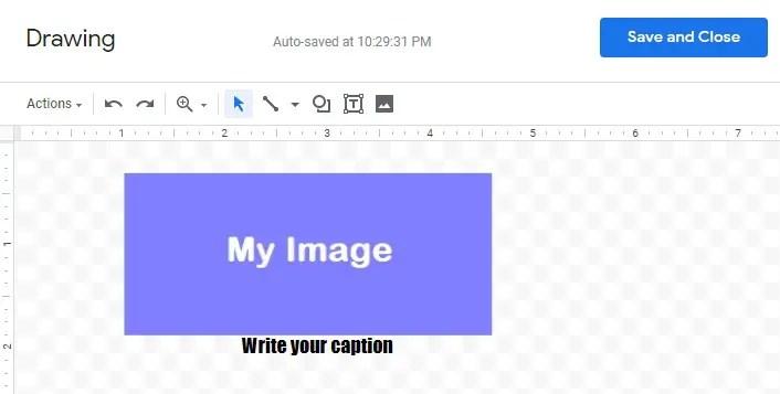 Google docs image captions add image caption in google docs