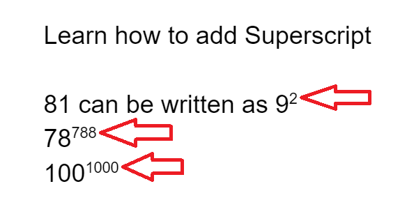 subscript superscript google docs