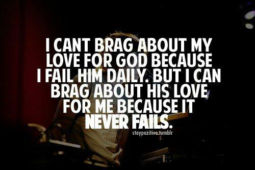 Bragging about God's love